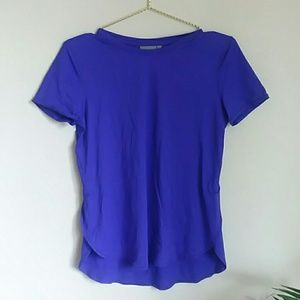 Athleta purple workout t shirt size small